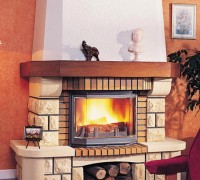 kominek i ogień